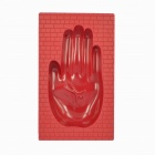 Anya D638 High Quality Hand Style Melamine Plastic Ashtray - Red