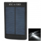 "Universal Dual USB 5V ""20000mAh"" Li-ion Polymer Battery / Solar Power Bank + 3-in-1 Cable - Black"