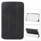Silk Grain Protective PU Leather Case for Samsung Galaxy Tab 3 T310 8.0 - Black