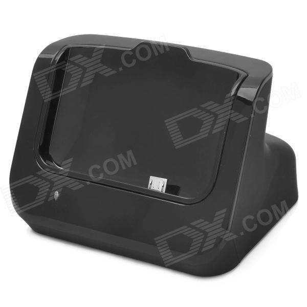 5V 1000mA Charging / Docking Station de Dados + Cabo USB para HTC One M7 - Preto