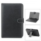 "REKB003 PU Leather Case w/ Spanish / English USB Wired 80-key Keyboard for 7"" Tablets - Black"