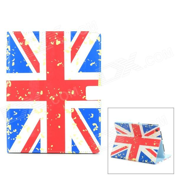 UK Flag Style Protective PU Leather Case w/ Auto Sleep for Ipad 2 / 3 / 4 - Red + White + Blue