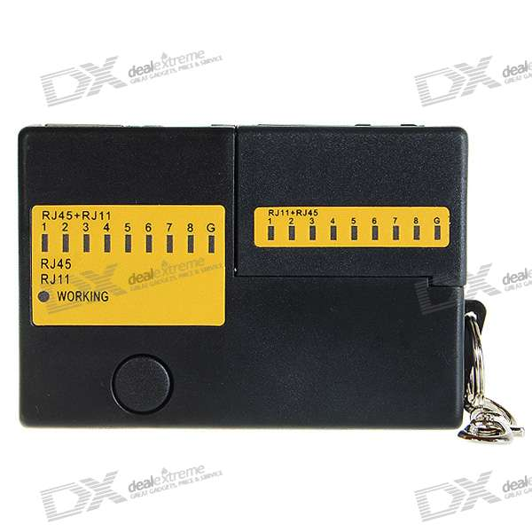RJ45/RJ11 Network and Telephone Cable Tester Keychain