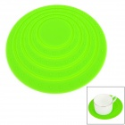GEL071401 Round Shaped Anti-slip Heat Insulation Mat / Pad for Dishware / Cup - Green