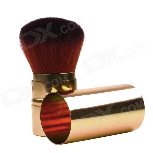 Retractable Cosmetic Make Up Powder Brush - Golden