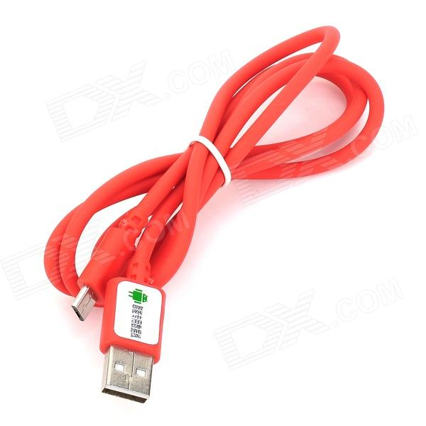 USB Male to Micro USB Male Data Sync & Charging Cable - Red (100cm) micro usb male to usb 2 0 male data sync charging cable w double color led light white 100cm