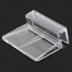 E5CQ Aquarium Fish Tank Cover Board Holder Clip - Transparent (4 PCS)