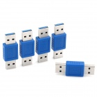 USB 3.0 Male to Male Adapters - Purple + Silver (5 PCS)