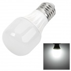 DP-02 3w 150lm 6700k E27 White Light Ceramic LED Lamp Bulb - White + Silver