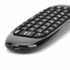 2.4GHz Air Mouse + Wireless Keyboard + 3D Somatic Game Handgrip + Remote Control for PC / TV - Black