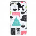 Lofter City Series Protective TPU Back Case for iPhone 5 - Black + White + Pink