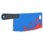 Bloody Kitchen Knife Style Silicone Case for Iphone 5 - Deep Blue + Red