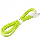 Flat Lightning 8-Pin Male to USB 2.0 Male Data Sync / Charging Cable for iPhone 5 -  Yellowgreen