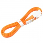 Flat 30-Pin Male to USB 2.0 Male Data Sync / Charging Cable for iPhone 4 / 4S - Orange (120cm)