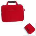 Fashionable Handbag Style Protective Polyester + Sponge Pouch Bag for Ipad - Red