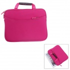 Fashionable Handbag Style Polyester + Sponge Protective Pouch Bag for Ipad - Deep Pink