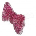 Cute Bowknot Style Plastic 3.5mm Anti-Dust Plug for Iphone 4 / 4S - Deep Pink