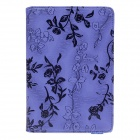 Rose Pattern Protective PU Leather Case Cover Stand for Ipad MINI - Purple + Black
