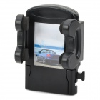 Convenient Air Outlet Mounted Adjustable Plastic Phone Holder for Car - Black