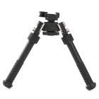 Quick Release Head Snaking Aluminum Alloy Bipod - Black