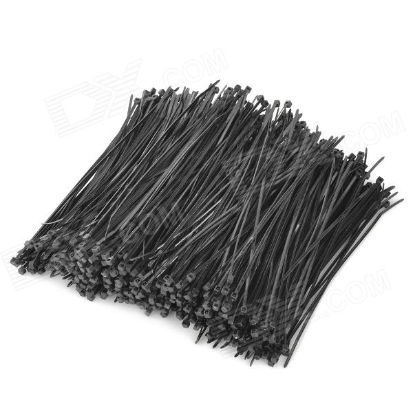 Self Locking Nylon + Plastic Cable Zip Ties - Black (1000 PCS)Lifestyle Gadgets<br>ModelNForm  ColorBlackMaterialNylonQuantity1Packing List1 x Pack of cable zip ties (1000 PCS)<br>