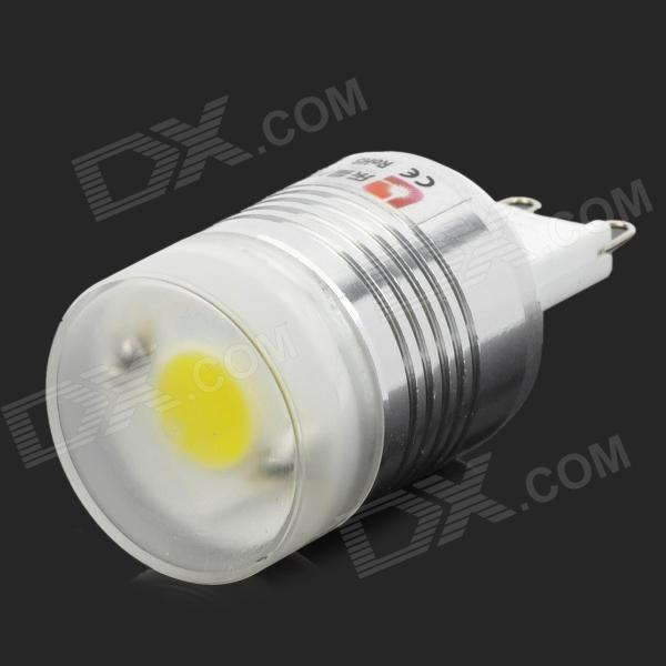 Lexing LX-YMD-038 G9 3W 300lm 7000K COB White Light Bulb - White + Silver - DXG9<br>Brand Lexing Model LX-YMD-038 Material Aluminum + ceramic + acrylic Color White + silver Quantity 1 Emitter Type COB Total Emitters 1 Power 3 W Color BIN White Rate Voltage 220~240 V Luminous Flux 250~300 lm Chip Working Voltage 70~72V Color Temperature 5500~7000 K Wavelength N/A nm Connector Type G9 Application Decoration lighting Features Small bright and energy-saving; Long lifetime; Environmental friendly; Suitable for various lighting occasions. Packing List 1 x LED bulb<br>