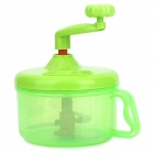 Hand-Cranked Kitchen Twisting Vegetable / Fruit / Meat Chopper Blender Tool - Green