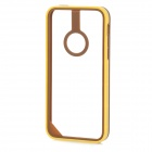 Baseus Protective PC + TPU Bumper Frame for Iphone 5C - Deep Brown + Yellow