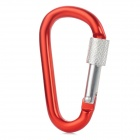 GG09 Aluminum Alloy Climbing Hook - Red + Silver (Small Size)