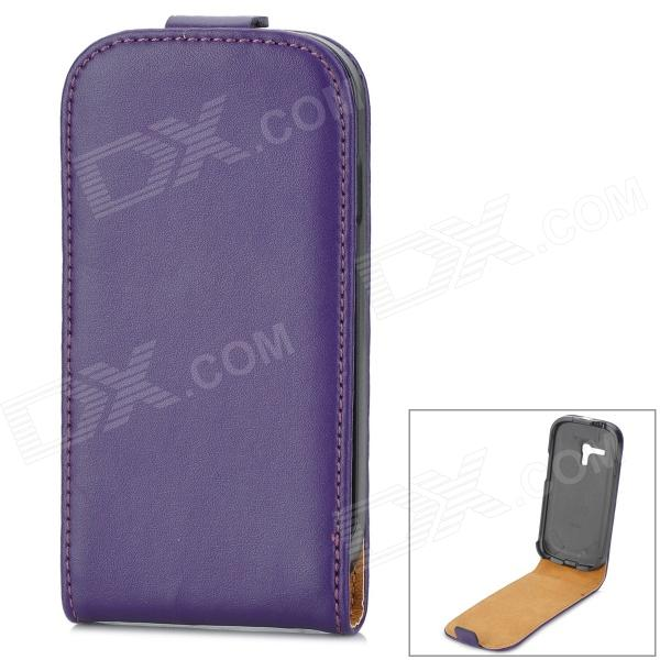 Protective Genuine Leather Flip-Open Case for Samsung Galaxy S3 Mini i8190 - Purple cresfimix women cute spring