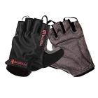 Outdoor Cycling Breathable Shockproof Half Finger Gloves - Black + Grey (XL)