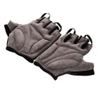 Outdoor Cycling Breathable Half Finger Gloves - Black + Grey (XL)