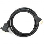 V1.4 1080P HDMI Male to Female Extension Cable w/ Screw Holes - Black (150cm)