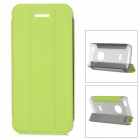 Baseus Protective PC Back Case + PU Leather Cover Stand for Iphone 5C - Fluorescent Green