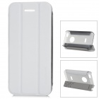 Baseus Protective PC Back Case + PU Leather Cover Stand for Iphone 5C - White + Translucent Grey