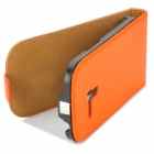 Protective Genuine Leather Flip-Open Case for Samsung Galaxy S3 Mini i8190 - Orange