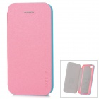 Baseus Protective PU Leather + PC Case Cover for Iphone 5C - Pearly Luster Pink + Blue