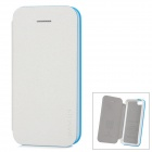 Baseus Protective PU Leather + PC Case Cover for Iphone 5C - Pearly Luster White + Blue