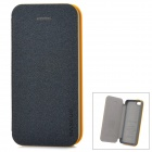 Baseus Protective PU Leather + PC Case Cover for Iphone 5C - Pearly Luster Black + Yellow