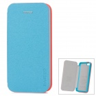 Baseus Protective PU Leather + PC Case Cover for Iphone 5C - Pearly Luster Blue + Pink