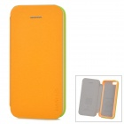 Baseus Protective PU Leather + PC Case Cover for Iphone 5C - Pearly Luster Yellow + Green