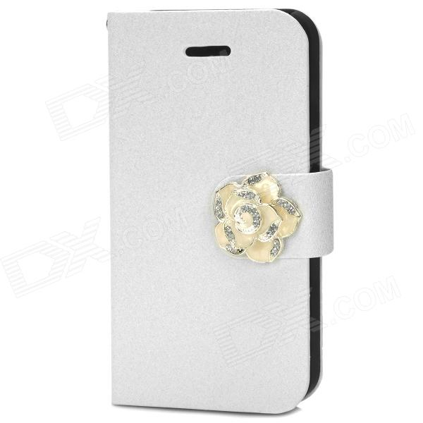 все цены на Protective PU Leather Case for Iphone 4 / 4S - White