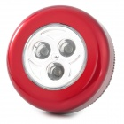 Touch Control Easy-Stick 3-LED-Weißlicht-Kabinett-Licht - Wine Red (3 x AAA)