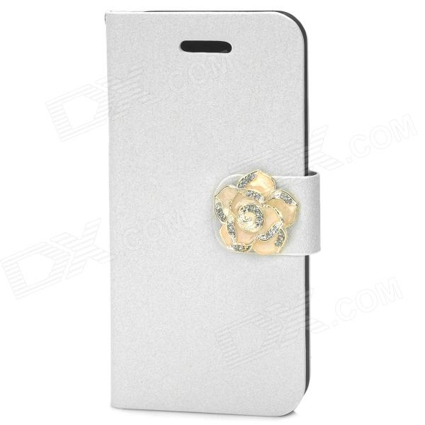 Protective PU Leather + Plastic Case for Iphone 5 - White - DXLeather Cases<br>Brand N/A Quantity 1 Piece Color White Material PU Leather + plastic Compatible Models Iphone 5 Packing List 1 x Case<br>