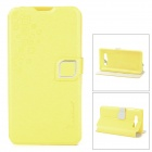HELLO DEERE Feather Silk Series Flip-open PU Leather Case for Mi 2s - Yellow