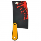 Bloody Kitchen Knife Style Silicone Case for Iphone 5 - Black + Yellow + Red