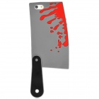 Bloody Kitchen Knife Style Silicone Case for Iphone 5 - Grey + Red + Black