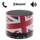HX-S10 English Style Portable Bluetooth V2.1 Speaker w/ TF / Microphone / AUX Input - Red + Black