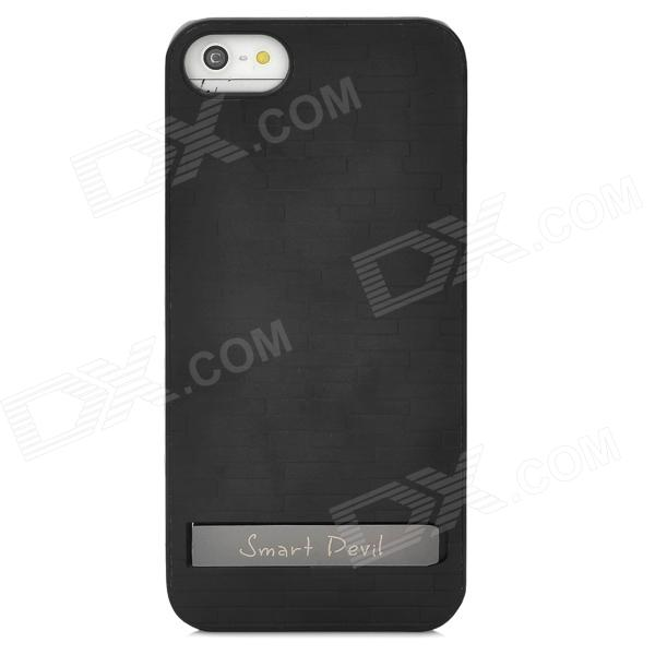Protective Aluminum Alloy Case w/ Holder for Iphone 5 - Black