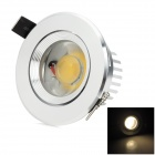 Hugewin HSD641 3W Warm White Light COB LED Ceiling Down Light - Silver (85~265V)
